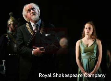 Polonius und Ophelia
