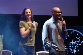 Tery Farrell und Michael Dorn