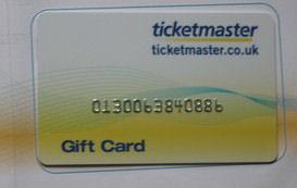 Ticketmaster-Gutschein